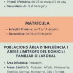 CALENDARI MATRÍCULA CURS 2021_2022
